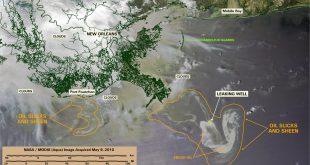 استفاده از تصاویر ماهواره ای در کشف و نقشهبرداری آلودگی نفتی