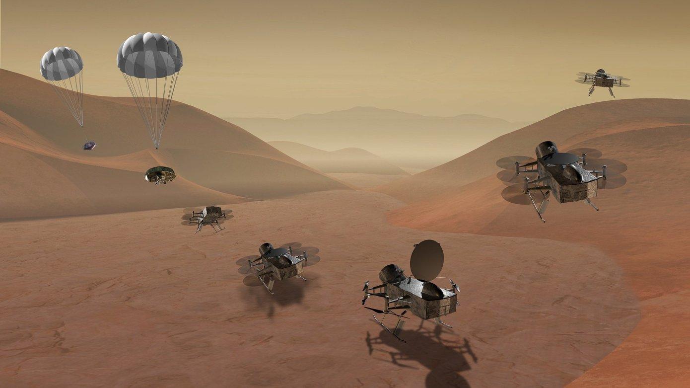 قمر تیتان سیاره زحل، مقصد بعدی اکتشافات ناسا با استفاده از کوادکوپتر