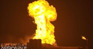 موشک استارهاپر شرکت اسپیس ایکس هنگام آزمایش آتش گرفت