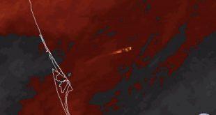 رصد پرتاب موشک فالکون توسط ماهواره هواشناسی از فضا