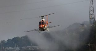 ارتش کره جنوبی مناطق آلوده به تب برفکی را به کمک بالگرد سم پاشی کرد