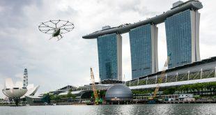 """پرواز تاکسی هوایی شرکت آلمانی """"ولوکوپتر"""" اینبار در سنگاپور"""