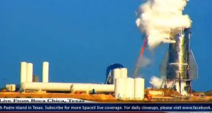 پرتاب شدن سر موشک استارشیپ شرکت اسپیس ایکس در آزمایش فشار