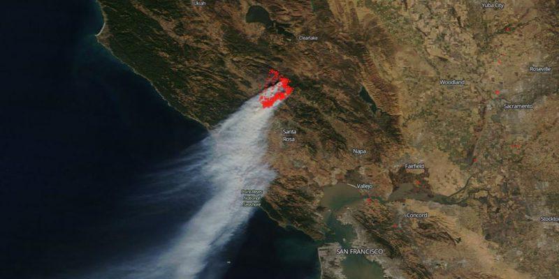 ماهوارهها آتشسوزی ویرانگر کالیفرنیا را از فضا ردیابی کردند