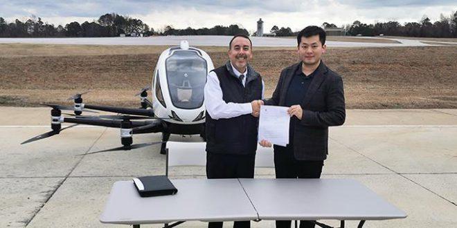 اولین پرواز آزمایشی خودمختار EHang در ایالات متحده