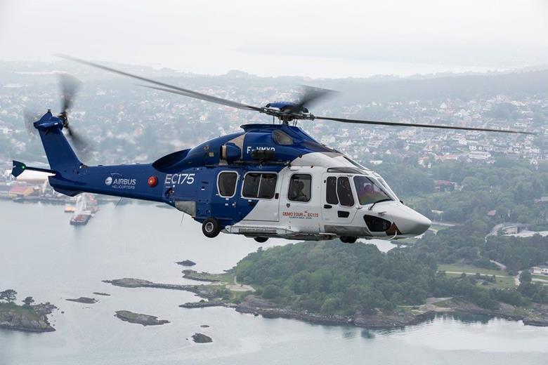 ایرباس مجوز عملیات تک خلبان IFR را برای بالگرد H175 دریافت می کند