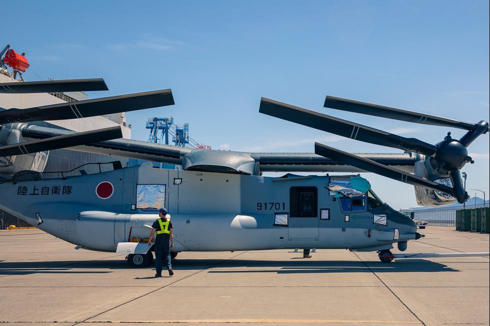اولین فروندهایV-22 Osprey توکیو به ژاپن میرسد